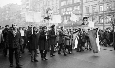 21 Studentská demonstrace na počest J. Palacha z 20.1.1969