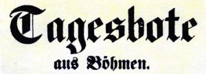 Znalezione obrazy dla zapytania Tagesbote aus Böhmen